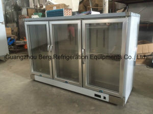 Stainless Stee Under Counter Back Bar Cooler with Glass Door pictures & photos