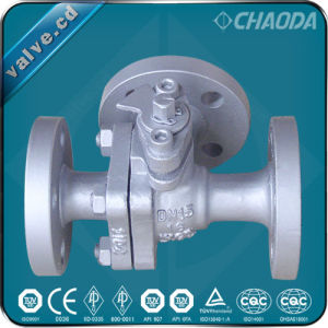 Flanged T Type and L Type Three Way Ball Valve pictures & photos
