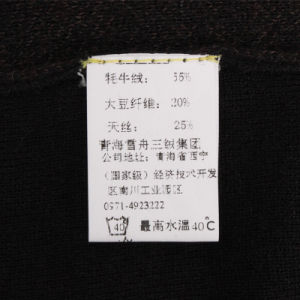 Bn0033ab Yak and Soybean Fiber and Tencel Blended Men′s Knitted Pullover pictures & photos