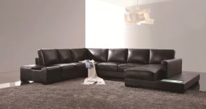 Modern Living Room U Shape Leather Sofa (LZ-122) pictures & photos