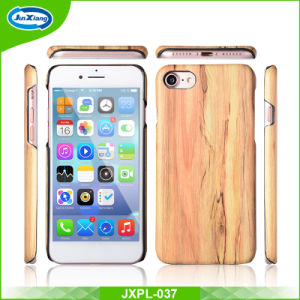 Luxury Ultra Slim Wood Grain PU Leather Soft Back Cover Phone Case for iPhone 5 5s 6 7 6 Plus pictures & photos