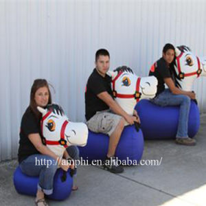 Inflatable Pony Hop Racing Sport Game for Outdoor Sports