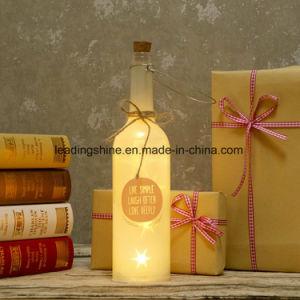 Warm White LED Birthday Starlight Bottle White Glass Light up Sentimental Message Bottles pictures & photos
