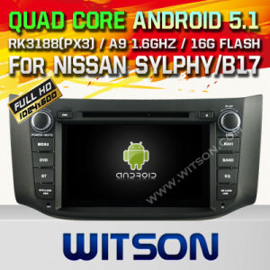 Witson Android 5.1 System Car DVD for Nissan Sylphy/B17 (W2-F9901N) pictures & photos