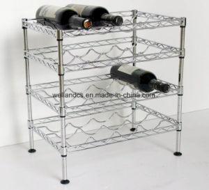 DIY 4 Tiers Chrome Metal Beer/Liquor Bottle Rack Holder pictures & photos