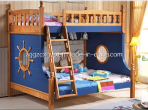 Solid Wood Bunk Beds with Stairs, Double Bed for Children pictures & photos