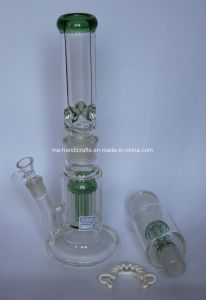 """18"""" Double Layer Arm Tree Percolator Glass Water Pipes Smoking Pipe pictures & photos"""