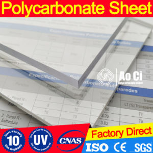 Transparent Solid Poly Carbonate Polycarbonate Roofing Sheet pictures & photos