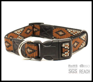 Strong Durable Heavy Duty Woven Pet Puppy Large Dog Collars pictures & photos