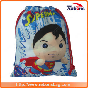 New Factory Price Drawstring Superman Backpacks School Bags for Teenagers pictures & photos