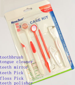 Dental Kits Wholesales with Dental Floss, Floss Pick & Cap, Dental Kits Toothbrush pictures & photos