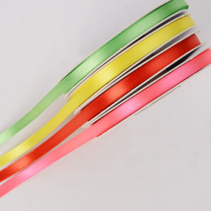 "1/4"" Double Faced Satin Ribbons for Craft pictures & photos"