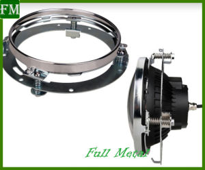 "Chrome 7"" LED Headlight Mounting Ring Bracket for Harley pictures & photos"