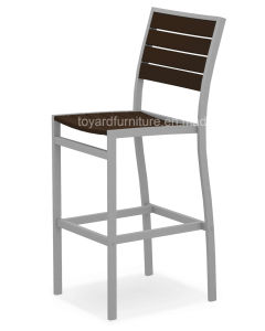 New Modern European Furniture Aluminum Polywood Back Chair Commercial Bar Furniture Set pictures & photos