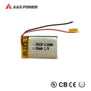 Shenzhen Flat Rechargeable 250mAh Li Polymer Battery 3.7V Battery with UL List pictures & photos