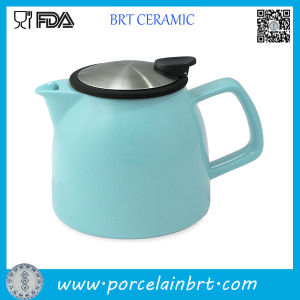 New Design Ceramic Teapot with Stainless Steel Infuser pictures & photos