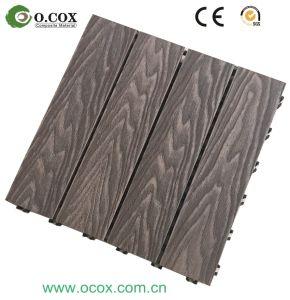 wood plastic composite decking tile interlock outdoor decking deck tile