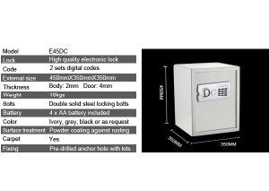 Digital Safe with Emergency Override pictures & photos
