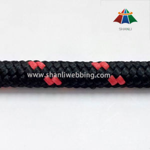 Custom 8mm Red and Black Striped PP Rope pictures & photos