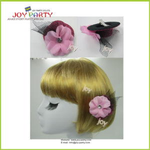 Pink Hair Accessories Hair Clip with Flower pictures & photos