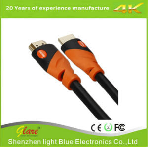 Support 4k*2k/60Hz Orange/Black Color HDMI 2.0V Cable pictures & photos