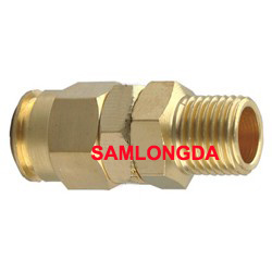NPT Swivel Coupler, PU Tube Coupling, Brass Fitting, PU Tube pictures & photos