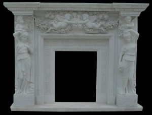 Angel Lady Statuary Stone Carving Fireplace pictures & photos
