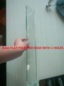 8mm Flast Polished Edge Clear Furniture Glas with 2 Holes pictures & photos