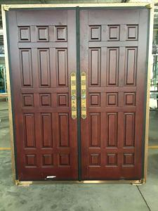 Stylish Simple Design Steel Security Copper Door pictures & photos