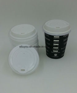 85mm/90mm Disposable Plastic HIPS Coffee Cup Lid pictures & photos