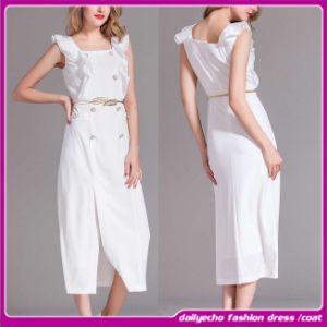 2015 Newly Design Ladies Dress, Maxi Cotton Women Dress, Formal Dress (C-189)