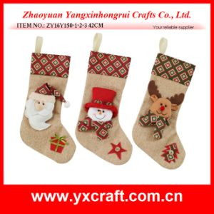 Christmas Decoration (ZY16Y150-1-2-3 42CM) Nice Christmas Model Kit Stocking pictures & photos