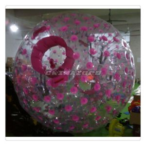 Top Quality Pink Color Dots Inflatable Zorb Wholesale Price