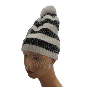 Colorful Knitted Beanie Winter Knitted Hat Lady Beanie Caps pictures & photos