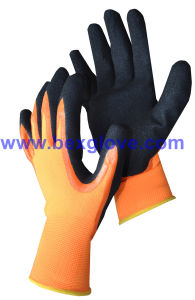 Nitrile Double Working Glove, Sandy Finish pictures & photos