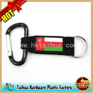 Hot Custom Design Metal and PVC Carabiner Cheap (TH-06858) pictures & photos