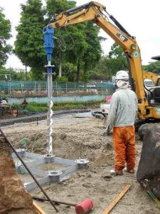 Square Bar Shaft Helical Piles or Screw Piles for Foundation and Construction pictures & photos