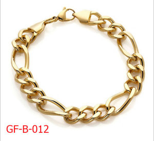 Gold Plating Stainles Steel Figaro Chain Necklace for Man pictures & photos