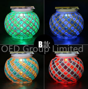 Waterproof Mosaic Glass Solar Sun Jar for Decoration Colorful Light Solar Sun Jar of Lamp Outdoor Garden Lighting pictures & photos
