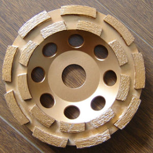 Double Rows Silver Brazed Diamond Cup Wheel, Grinding Wheel pictures & photos