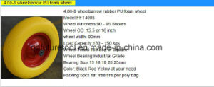 Solid Rubber PU Foam Tyre Wheel for Hand Trolley pictures & photos