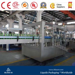 Monoblock Glass Bottle Carbonated Drinks Filling Machine pictures & photos