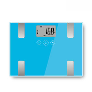 Electronic Body Fat Scale with Large Glass Platform&LCD Display pictures & photos