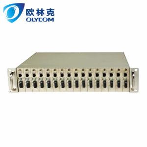 "19""2u Rack Media Converter chassis dual power supply"