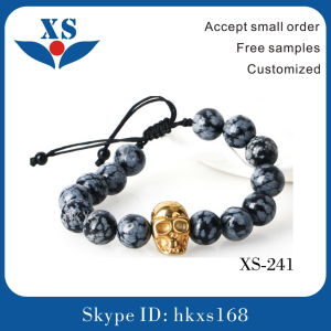 High Quality Gold Plated Skull Custom Bracelets pictures & photos