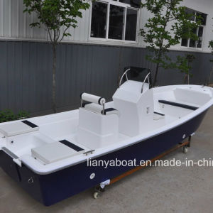 Liya 8person Panga Boat for Sale Fiberglass Fishing Boat with Motor pictures & photos