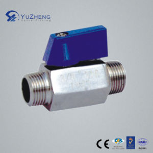 "1/4""-3/4"" Mm Mini Ball Valve with Male Thread pictures & photos"