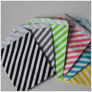 Eco-Friendly Striped Party Tableware Paper Bag pictures & photos