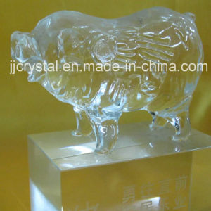High Quality Transparent Crystal Animals Pig for Souvenir or Gifts pictures & photos