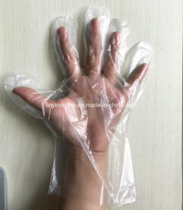 HDPE / LDPE Gloves, Disposable Folded Gloves in Pairs for Hair Salon, PE Plastic Gloves pictures & photos